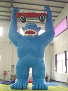 MONKEY WITH CAR 8MH PROMO INFLATABLE HIRE SYDNEY