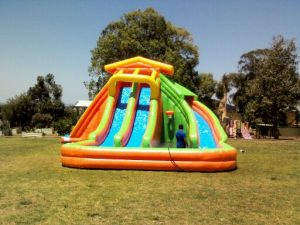 WATER SLIDES 2 LANES 15X15X6MH
