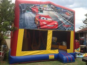 DISNEY CARS 5IN 1 COMBO 5X5M JUMPING CASTLE HIRE SYDNEY