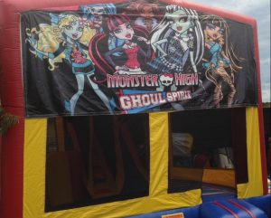MONSTER HIGH GOUL SPIRIT 5IN 1 COMBO 5X5M JUMPING CASTLE HIRE SYDNEY