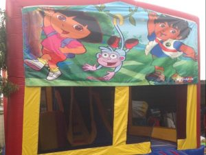 DORA EXPLORER 5 IN 1 COMBO 5X5M JUMPING CASTLE HIRE SYDNEY