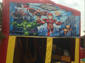 MARVEL SUPER HERO 5IN 1 COMBO 5X5M JUMPING CASTLE HIRE SYDNEY