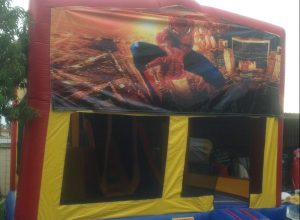 SPIDERMAN 5IN 1 COMBO 5X5M JUMPING CASTLE HIRE SYDNEY