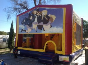 GIRL POWER 5IN 1 COMBO 5X5M JUMPING CASTLE HIRE SYDNEY
