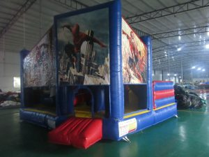 SPIDERMAN V4 5IN 1 COMBO 5X5M JUMPING CASTLE HIRE SYDNEY