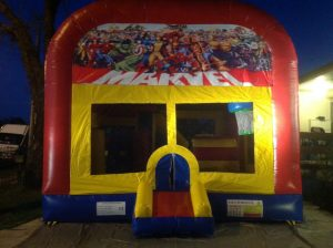 MARVEL SUPER HEROES 5IN 1 COMBO 5X5M JUMPING CASTLE HIRE SYDNEY