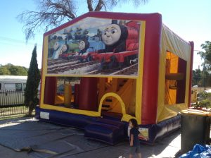 THOMAS THE TANK ENGINE 5IN 1 COMBO 5X5M JUMPING CASTLE HIRE SYDNEY