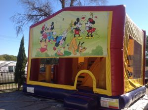 MICKY MOUSE 5IN 1 COMBO 5X5M JUMPING CASTLE HIRE SYDNEY