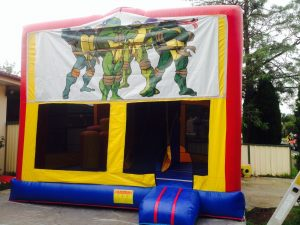 NINJA TURTLES 5IN 1 COMBO 5X5M JUMPING CASTLE HIRE SYDNEY