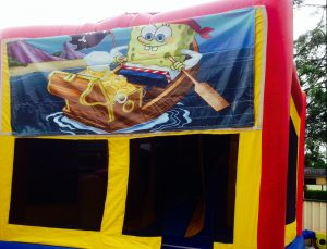 SPONGE BOB SQUARE PANTS 5IN 1 COMBO 5X5M JUMPING CASTLE HIRE SYDNEY