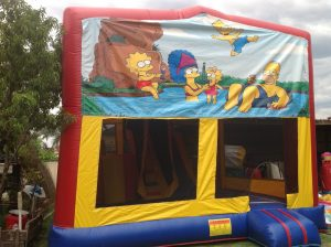 SIMPSONS 5IN 1 COMBO 5X5M JUMPING CASTLE HIRE SYDNEY