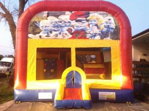 SMURFS 5IN 1 COMBO 5X5M JUMPING CASTLE HIRE SYDNEY