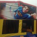 SUPERMAN 5IN1 COMBO SLIDE POP UPS OBSTACLE & BASKETBALL HOOP 5X5 M AGES 3 TO 12